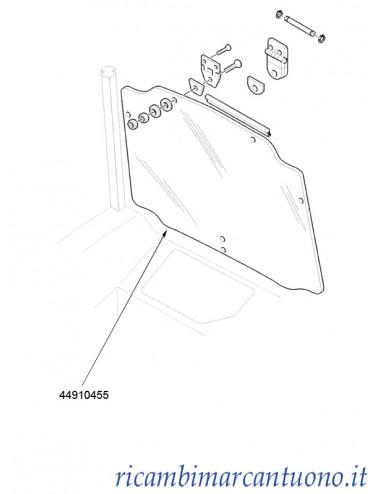 Cristallo posteriore New Holland -  cod 44910455