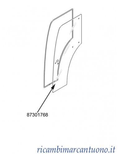 Vetro porta lato sinistro New Holland - cod 87301768