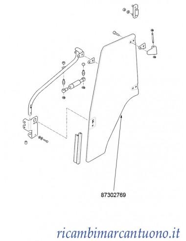 Cristallo porta lato sinistro New Holland - cod 87302769