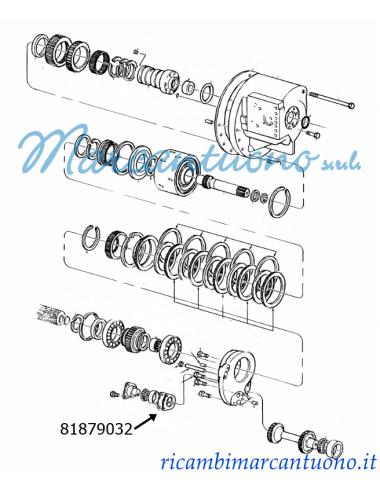 Spessore trasmissione potenza doppia New Holland -cod 81879032