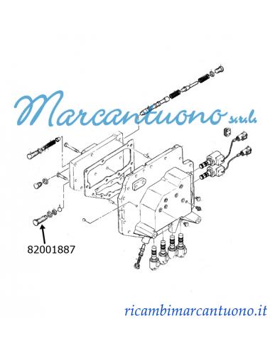 Valvola  trasmissione cambio comandi interni New Holland -cod 82001887