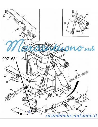 Coppiglia puntone limitatore New Holland -cod 9971684