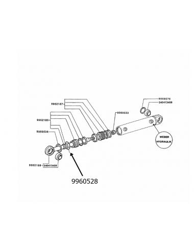 Anello di blocc. cilindro idroguida New Holland -cod 9960528