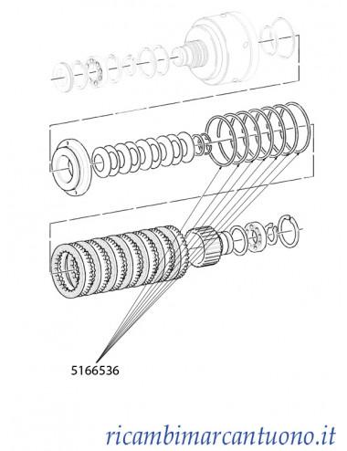 Molla per frizione New Holland - cod 5166536