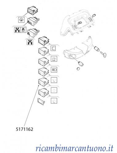 Interruttore lavacristalli New Holland - cod 5171162