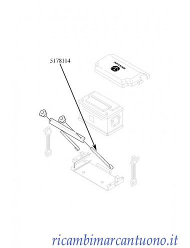 Tirante fissaggio batteria New Holland -  cod 5178114
