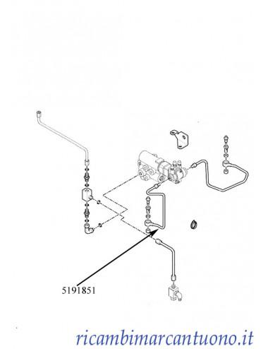 Tubo olio freni rimorchio New Holland - cod 5191851