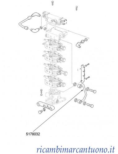 Tubo rigido distributori New Holland - cod 5178032