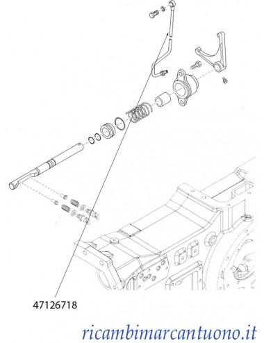Tubo idraulico trasmissione New Holland - cod 47126718