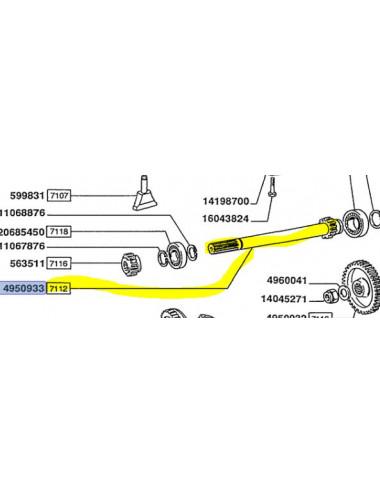 Albero cod - 4950933 ricambio originale CNH