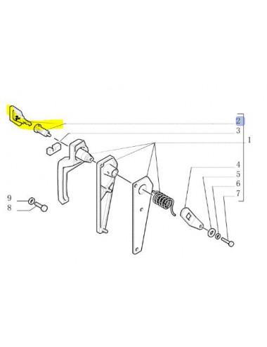 Blocchetto serratura cod - 1930980 ricambio originale CNH