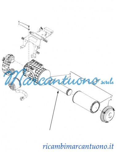 Filtro aria secondario New Holland - cod 82028151