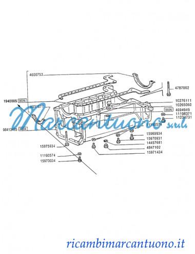 Serie guarnizioni coppa olio motore New Holland - cod 1940005