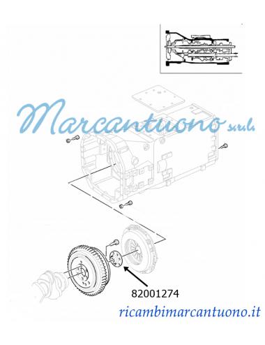 Mozzo cambio meccanico New Holland -cod 82001274