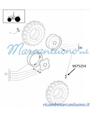 Vite M12X25  ruote anter. motrici New Holland -cod 9975254