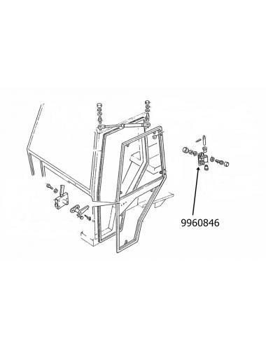 Cerniera porta New Holland -cod 9960846