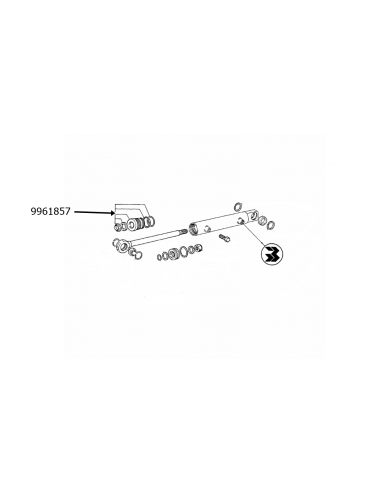 Guida di scorrim. cilindro idrog. New Holland -cod 9961857
