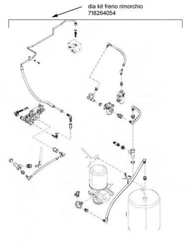 Dia kit freno rimorchio New Holland - cod 718264054