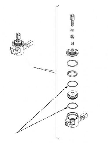 Anello cilindro innesto PDF New Holland - cod 5185835
