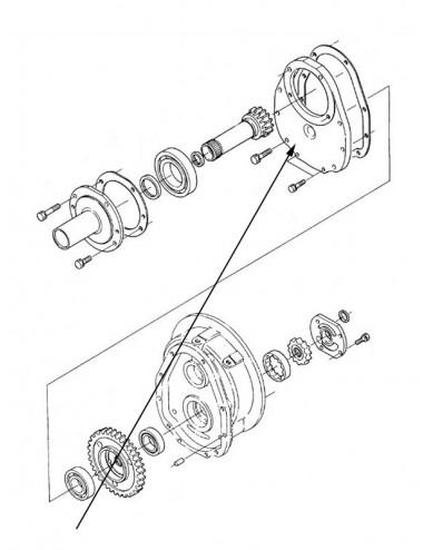 Coperchio anteriore trasmissione New Holland - cod K3660623141