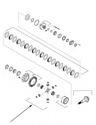 Kit ingranaggi New Holland - cod 87324491