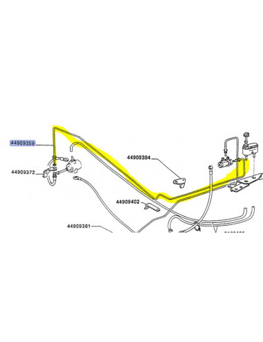 Tubo rigido cod. 44909359 ricambio originale CNH