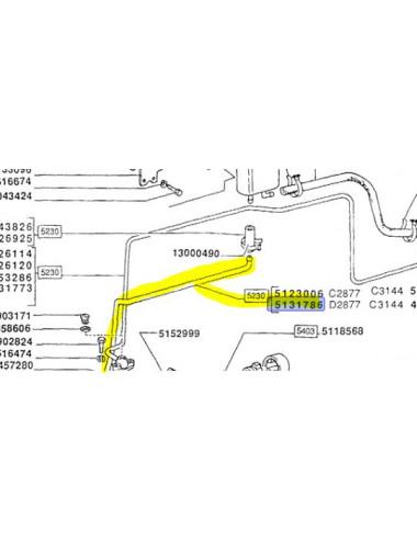 Tubo rigido cod- 5131786 ricambio originale CNH