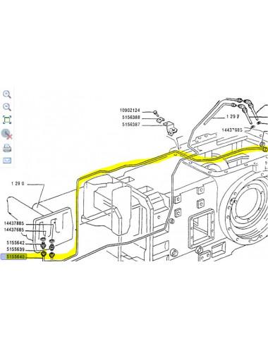 Tubo rigido cod- 5155640 ricambio originale CNH