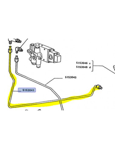 Tubo rigido cod- 5153041 ricambio originale CNH