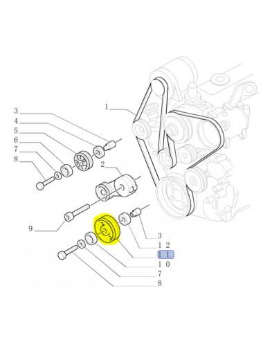 puleggia motore new holland - cod 86503292