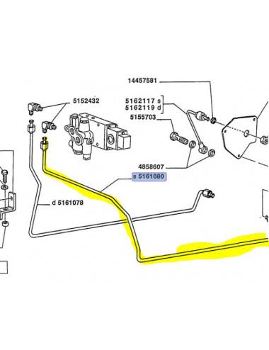 Tubo rigido cod - 5161080 ricambio originale CNH