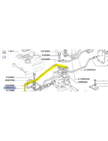 Tubo rigido cod - 44905723 ricambio originale CNH