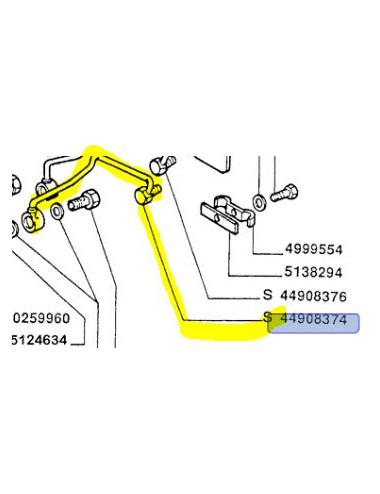 Tubo rigido cod - 44908374 ricambio originali CNH