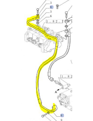 Tubo rigido cod- 5199197 ricambio originale CNH