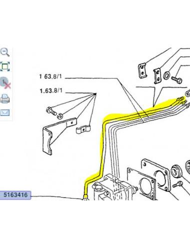 Tubo rigido cod - 5163416 Ricambio originale CNH