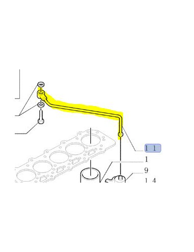 Tubo rigido cod - 87801931 Ricambio originale CNH