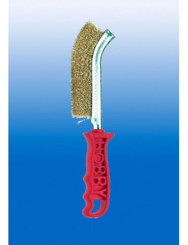 Spazzola hobby filo ottone manico in plastica Angelo B. - cod 8005869331663