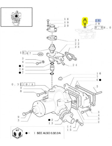 Sensore temperatura New Holland - cod 4171667