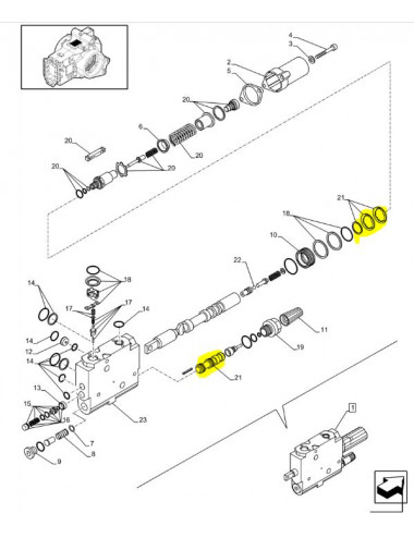 kit riparazione distributore ausiliario New Holland - cod 87394197