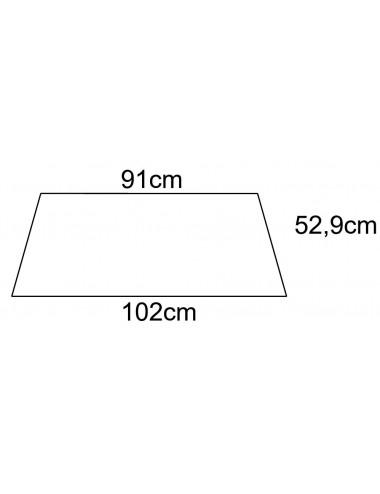 Cristallo Posteriore per FIAT 45-66 I serie Torincab - cod A3