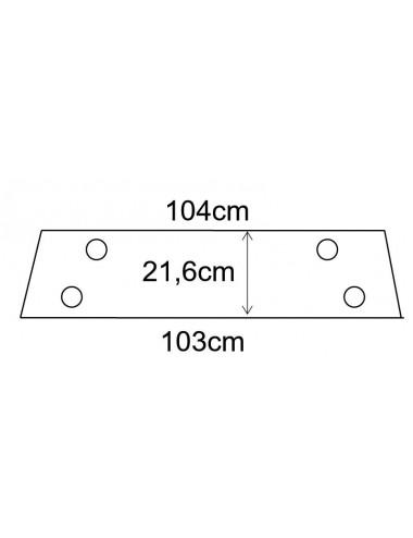 Cristallo posteriore inferiore per 45-66 I serie Torincab - cod B1