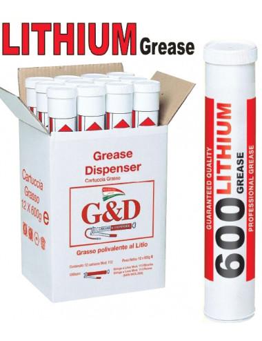 Cartuccio grasso capacità 600g lithium grease Maestri - cod 112