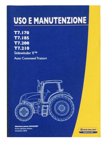 libro uso e manutenzione serie T7.xxx - cod 84345287