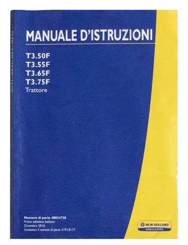 libro uso e manutenzione serie T3.xx - cod 48034720