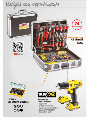 valigia con assortimento USAG - cod U00021710W