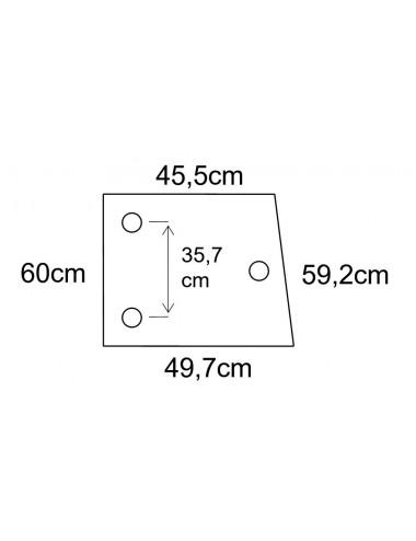 cristallo superiore porta x fiat 66 Torincab - cod L3