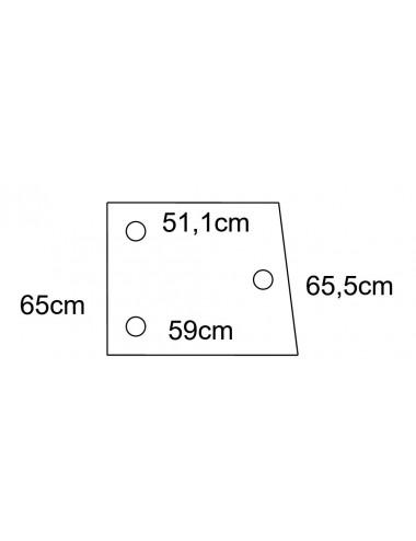 Cristallo superiore porta x fiat serie 66 Torincab - cod L5
