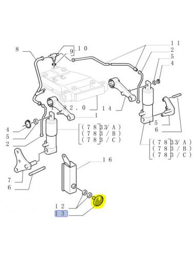 catadiottro, riflettore New Holland - cod 5171358
