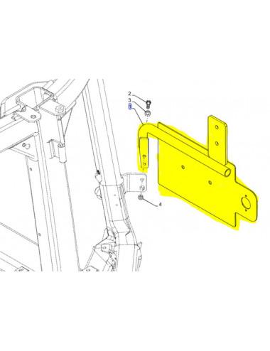 Supporto targa e supporto luce targa Nerw Holland - cod 47378039