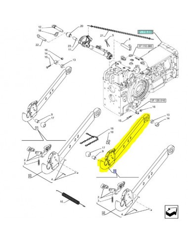 Braccio sollevatore destro New Holland - cod 875492716